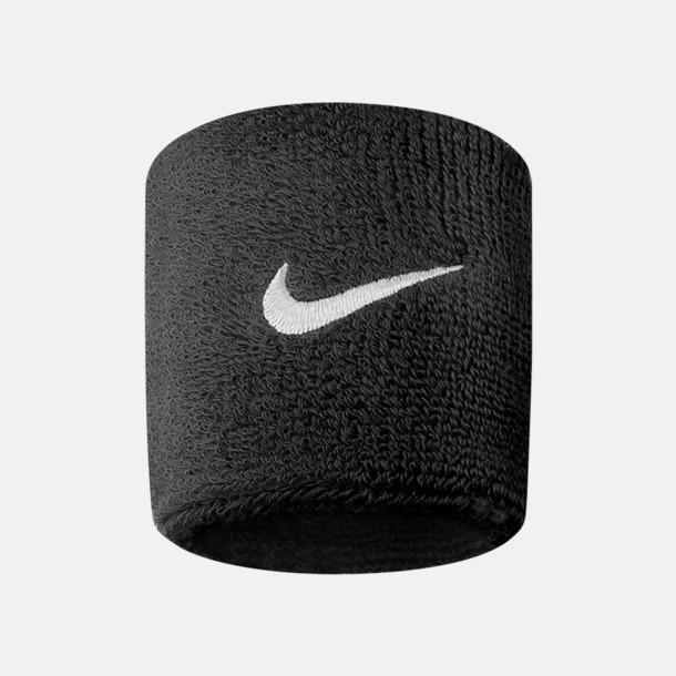 Svart / Vit Armsvettband från Nike med reklamlogo
