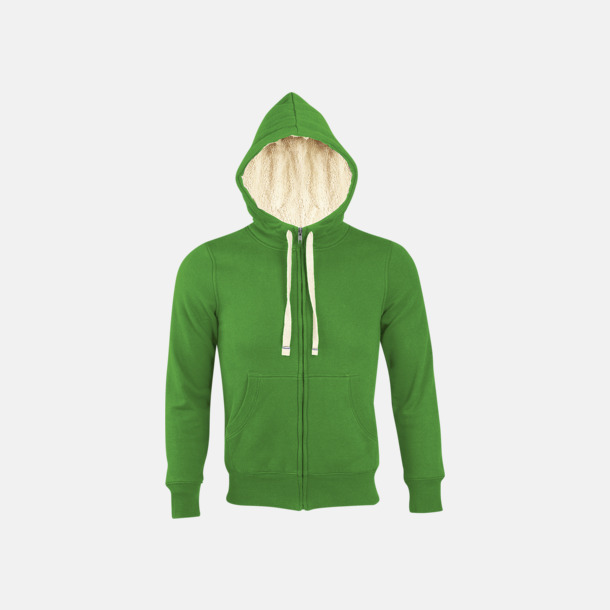 Bud Green Sherpafodrade hoodies med reklamtryck
