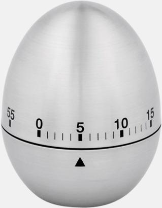 Silver Klassiska äggklockor med reklamtryck