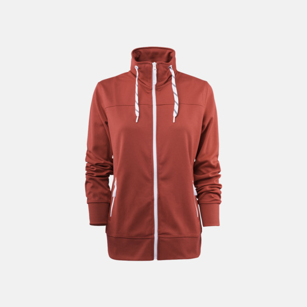 Röd (dam) Sporttröjor med reklamtryck