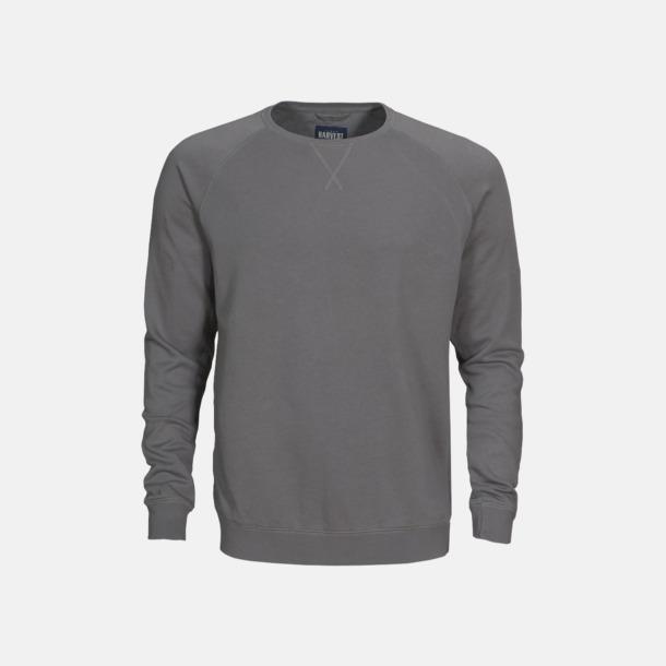 Faded Grey (herr) Premium collegetröjor med reklamtryck