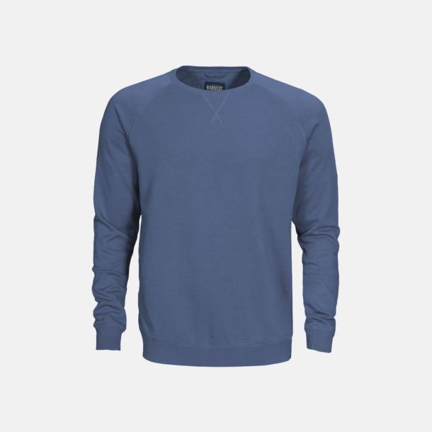 Faded Blue (herr) Premium collegetröjor med reklamtryck