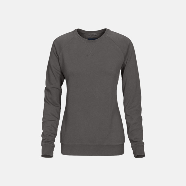Faded Grey (dam) Premium collegetröjor med reklamtryck