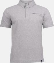 Premium herr pikétröjor från James Harvest med reklamtryck