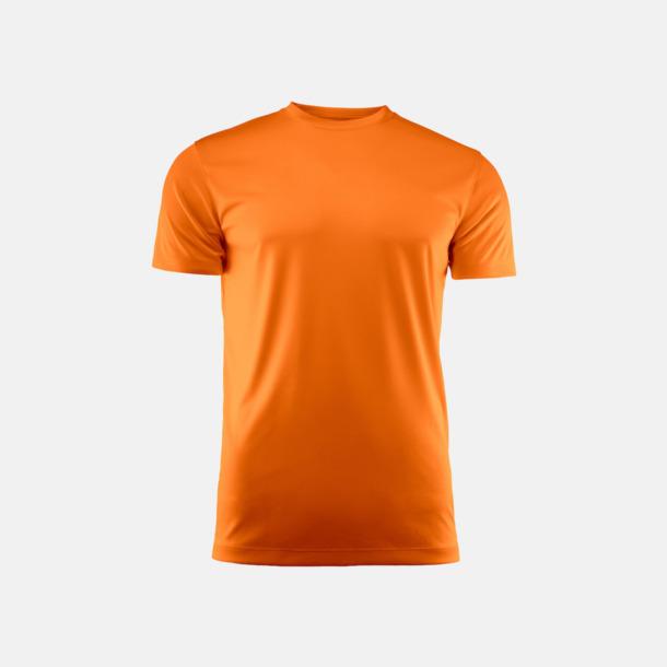 Orange (unisex) Kvalitets funktions t-shirts med reklamtryck