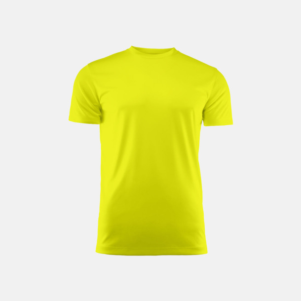 Neon Yellow (unisex) Kvalitets funktions t-shirts med reklamtryck