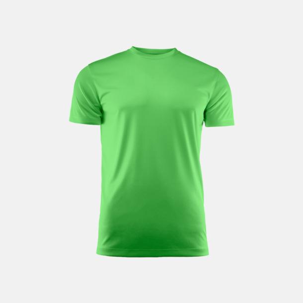 Limegrön (unisex) Kvalitets funktions t-shirts med reklamtryck