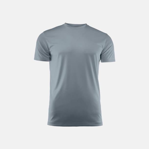 Steel Grey (unisex) Kvalitets funktions t-shirts med reklamtryck