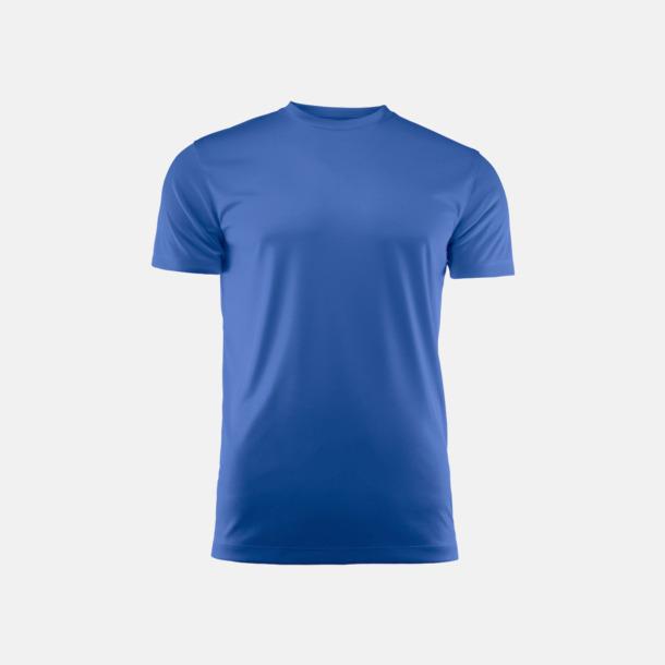 Blå (unisex) Kvalitets funktions t-shirts med reklamtryck