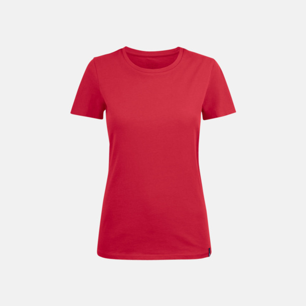 Röd (dam) Fina t-shirts med reklamtryck