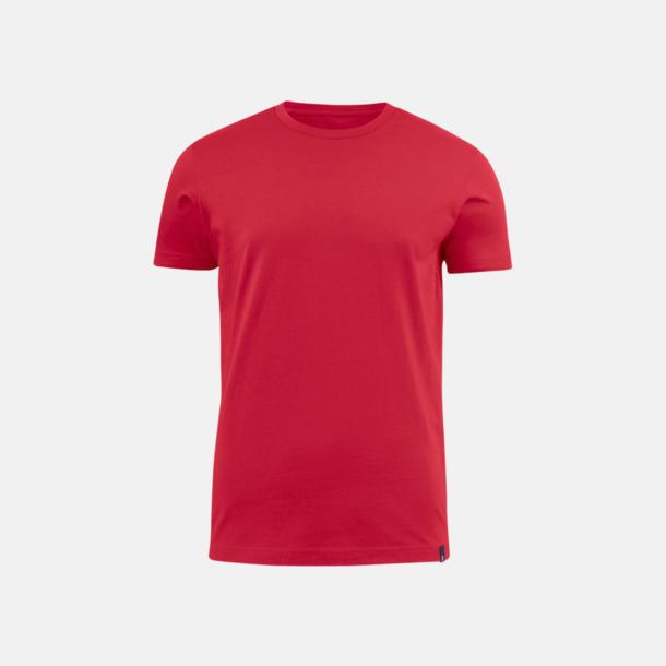 Röd (herr) Fina t-shirts med reklamtryck