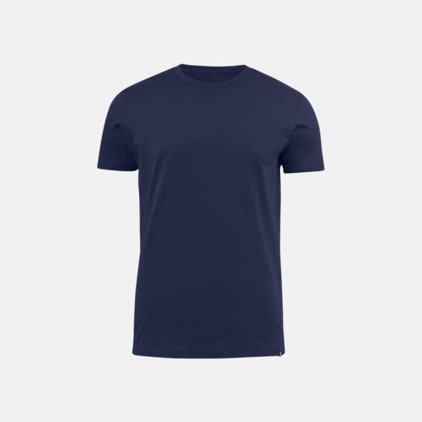 Marinblå (herr) Fina t-shirts med reklamtryck