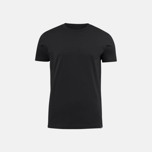 Svart (herr) Fina t-shirts med reklamtryck