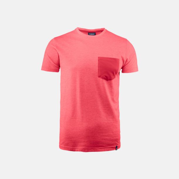 Red Melange Fickförsedda unisex t-shirts med reklamtryck