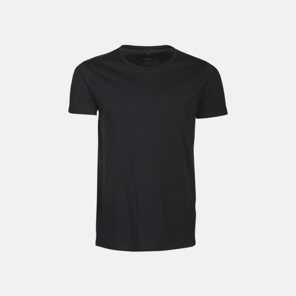 Svart (herr) Kvalitets t-shirts i bomull med reklamtryck
