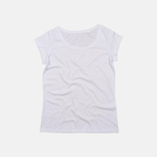 Vit Eko dam t-shirts med reklamtryck