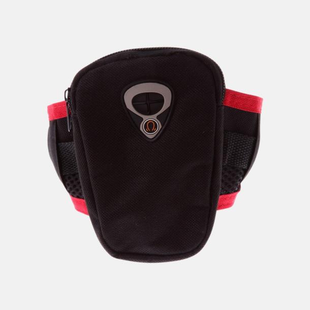 Svart / Röd Joggingarmband för mobil eller musikspelare med reklamtryck