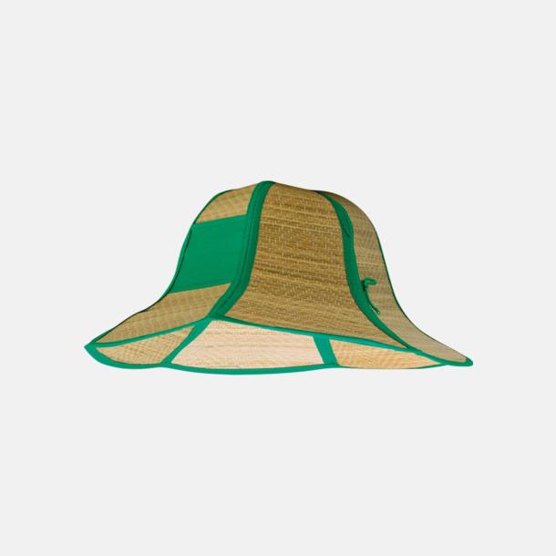 Grön Vikbara strandhattar med reklamtryck