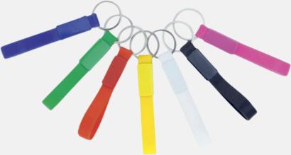 Nyckelringar med silikonband - med logga