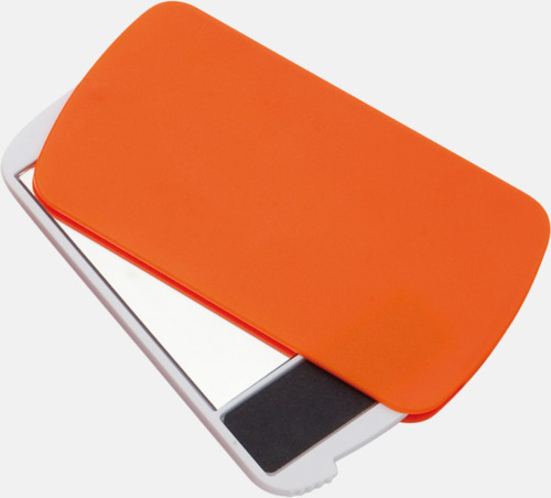 Orange Fickspegel med nagelfil - med reklamtryck