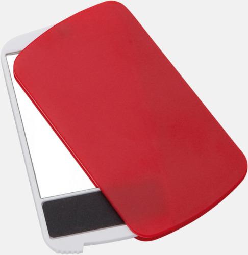 Röd Fickspegel med nagelfil - med reklamtryck