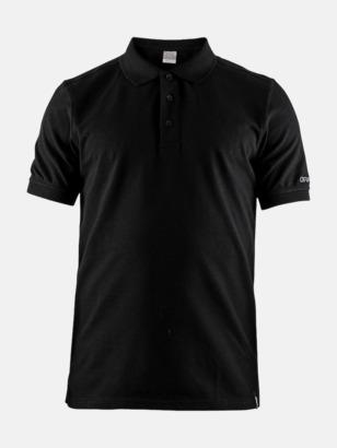 Svart (Herr) Craft pikétröjor med eget reklamtryck
