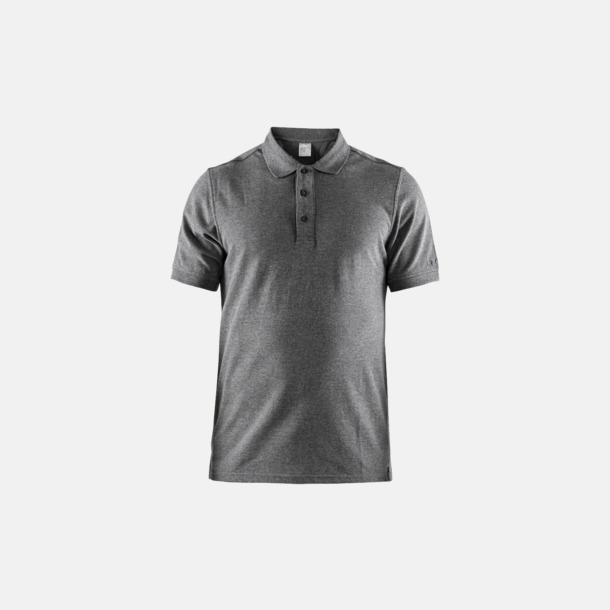 Dark Grey Melange (herr) Craft pikétröjor med eget reklamtryck