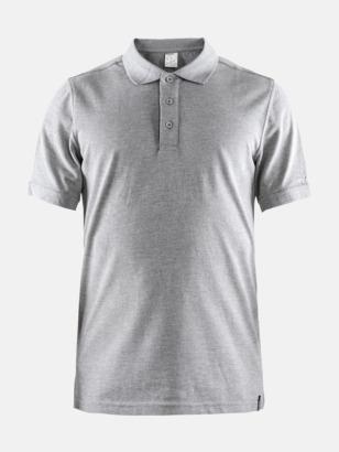 Grey Melange (Herr) Craft pikétröjor med eget reklamtryck