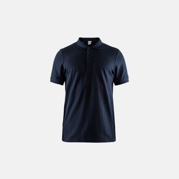 Dark Navy (herr) Craft pikétröjor med eget reklamtryck