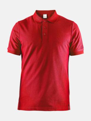 Bright Red (Herr) Craft pikétröjor med eget reklamtryck