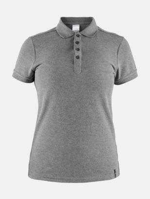 Dark Grey Melange (Dam) Craft pikétröjor med eget reklamtryck
