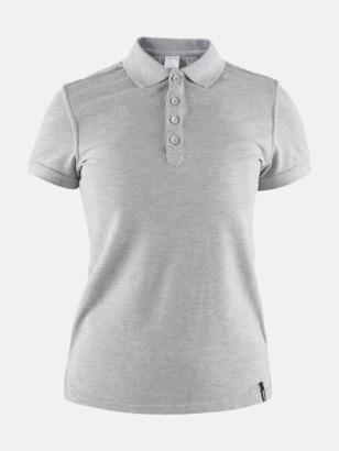 Grey Melange (Dam) Craft pikétröjor med eget reklamtryck