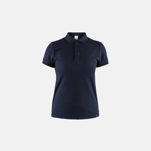 Dark Navy (dam) Craft pikétröjor med eget reklamtryck