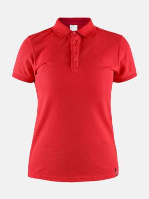 Bright Red (Dam) Craft pikétröjor med eget reklamtryck