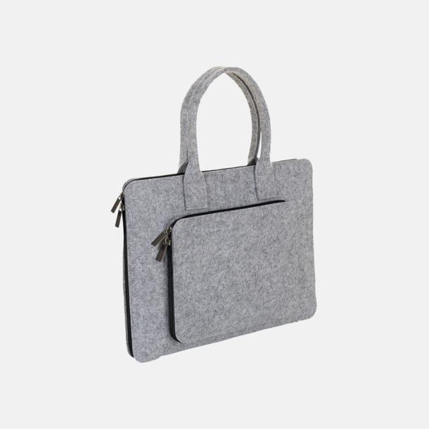 Grey Melange Väskor i filt med reklamlogga