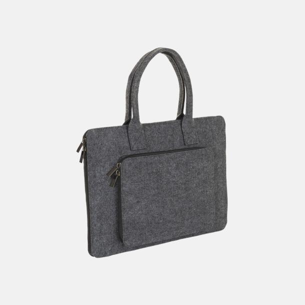 Charcoal Melange Väskor i filt med reklamlogga