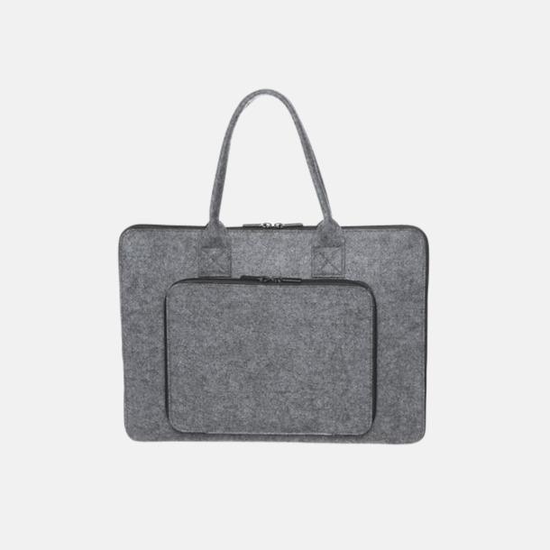 Väskor i filt med reklamlogga