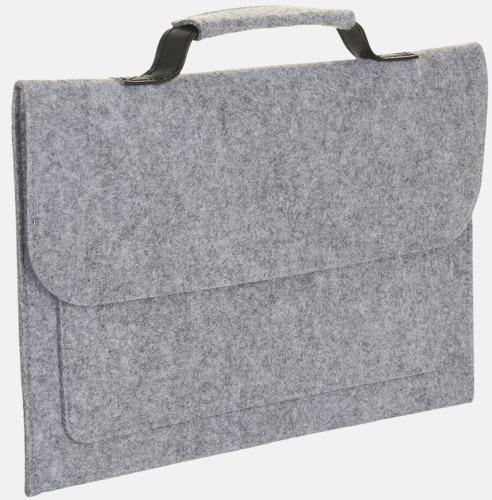 Grey Melange Väskor i filt med reklamlogo