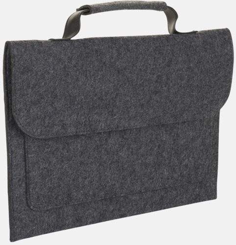 Charcoal Melange Väskor i filt med reklamlogo