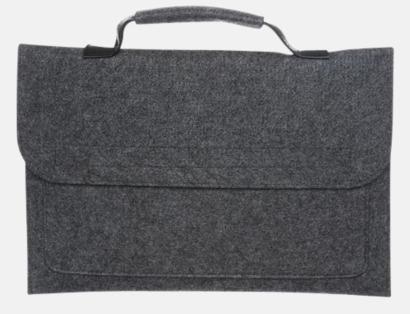 Väskor i filt med reklamlogo