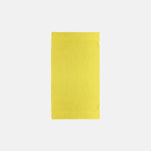 Bright Yellow Billiga handdukar med egen logga