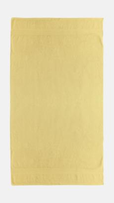 Gul Billiga handdukar med egen logga