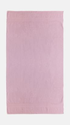 Ljusrosa Billiga handdukar med egen logga