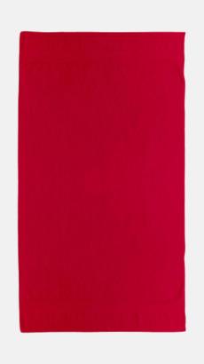 Röd Billiga handdukar med egen logga