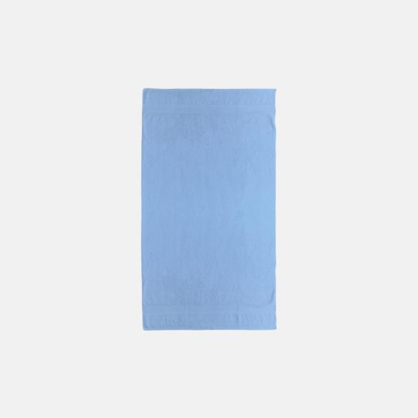 Ljusblå Billiga handdukar med egen logga