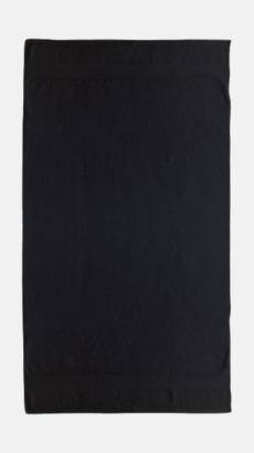 Svart Billiga handdukar med egen logga