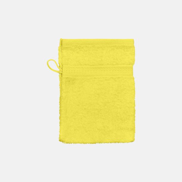 Bright Yellow (handske) Billiga handdukar med egen logga