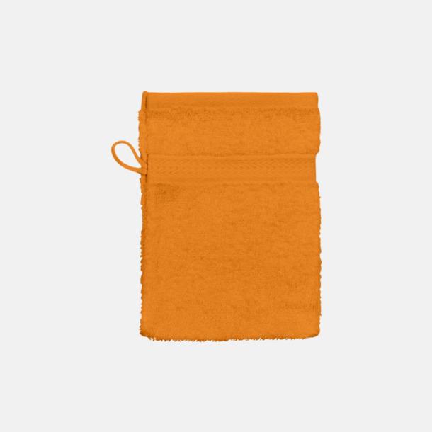 Bright Orange (handske) Billiga handdukar med egen logga