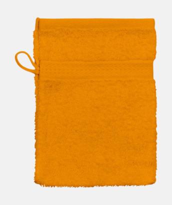 Orange (Handske) Billiga handdukar med egen logga