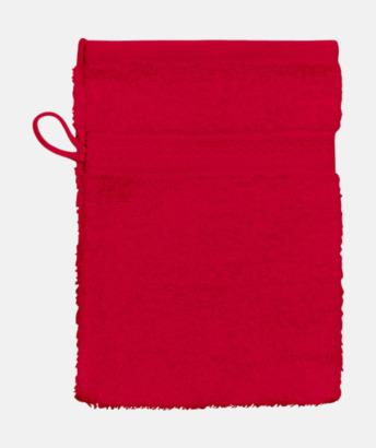Röd (Handske) Billiga handdukar med egen logga